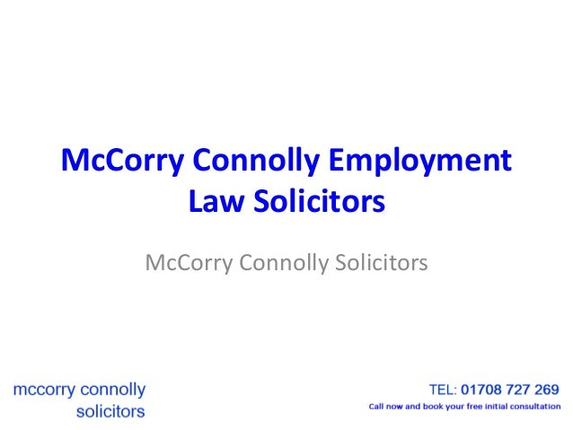 McCorry Connolly Employment Law Solicitors McCorry Connolly Solicitors