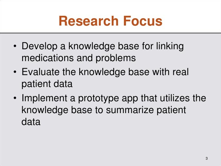 A Prototype Knowledge Base and SMART App to Facilitate Organization of Patient Medications by Clinical Problems Slide 3
