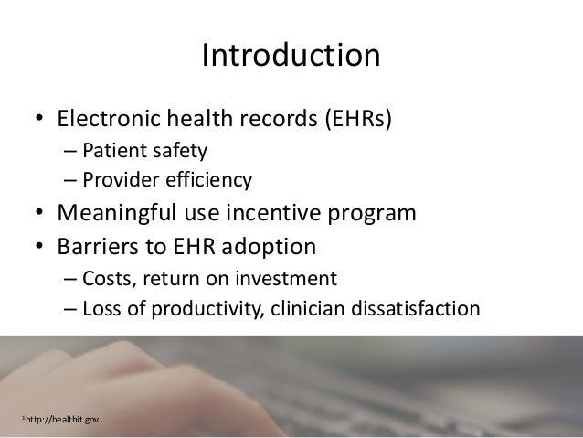 Clinician Satisfaction Before and After Transition from a Basic to a Comprehensive Electronic Health Record Slide 3