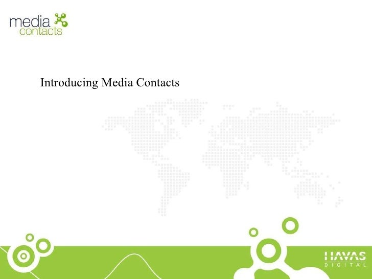 Introducing Media Contacts
