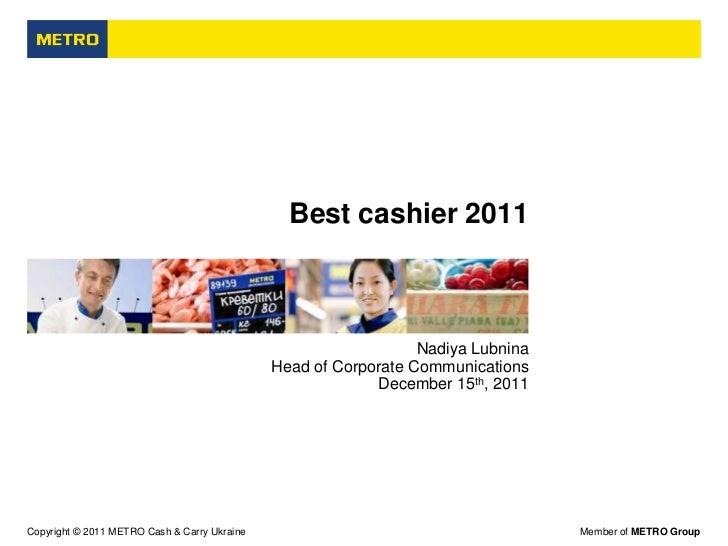 Best cashier 2011                                                                 Nadiya Lubnina                          ...