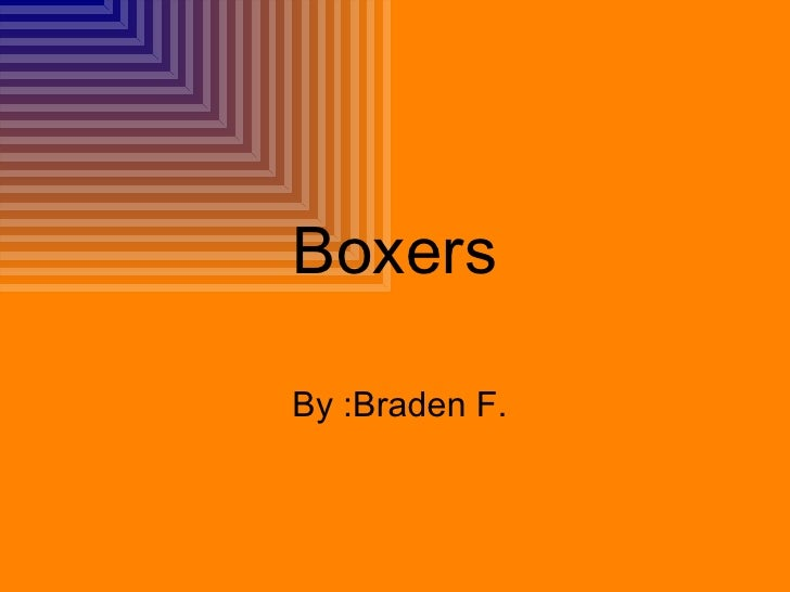 Boxers By :Braden F.