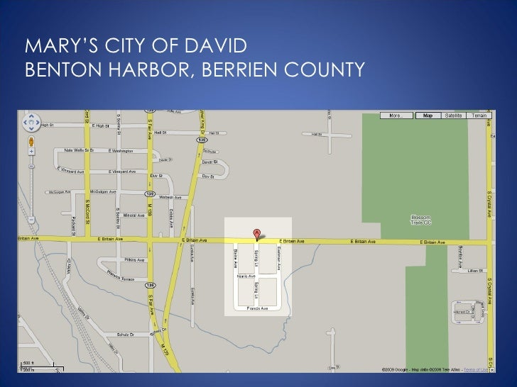 MARY'S CITY OF DAVID BENTON HARBOR, BERRIEN COUNTY