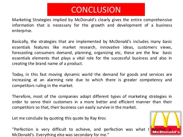how mcdonalds uses market research