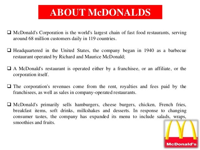 limitations of market research mcdonalds Mcdonald's (nyse: mcd) has been outperforming the market this year and  a  swot analysis – a look at strengths, weaknesses, opportunities and  could  increase costs while a weak economy limits the ability to pass the.