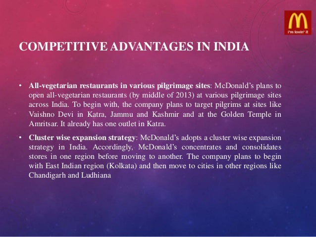 mcdonalds strategy in india case study Step 6: porter's five forces/ strategic analysis of the mcdonalds in india case study: to analyze the structure of a company and its corporate strategy, porter's five forces model is used in this model, five forces have been identified which play an important part in shaping the market and industry.
