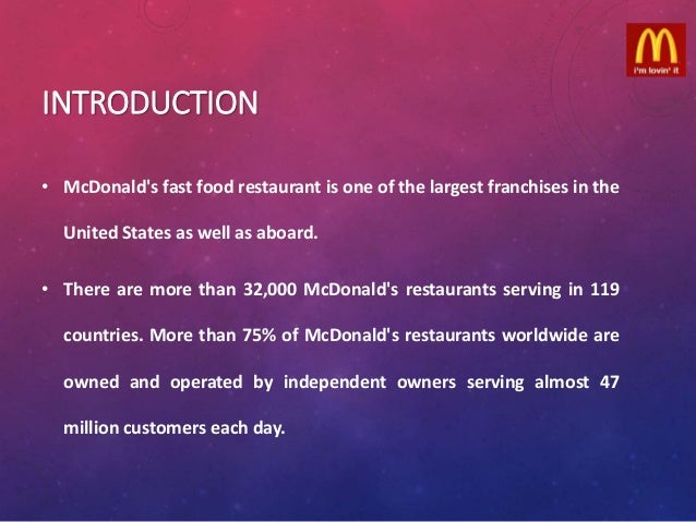 mcdonalds restaurant case study Read this essay on mcdonalds' senior's restaurant come browse our large digital warehouse of free sample essays  case study: mcdonald's denny archibek and .