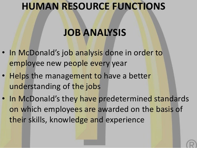 Human Resource Management in McDonald Business Essay