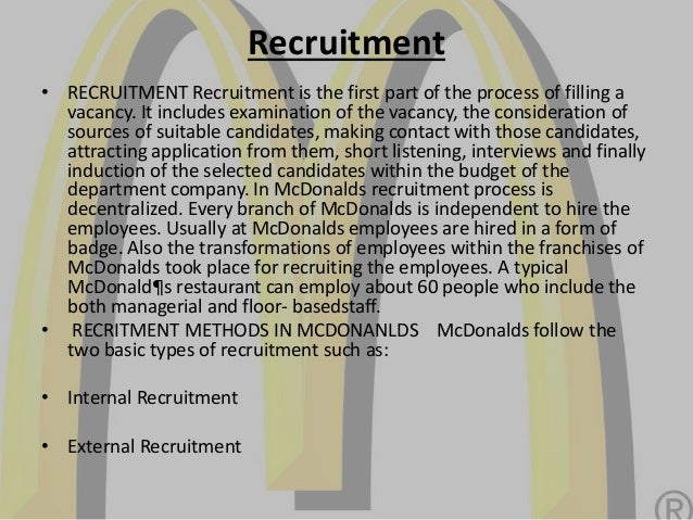 human resource activities at mcdonalds Mcdonald's human resources management mcdonald's human resources management abstract the course work starts with the introduction of human resource management.