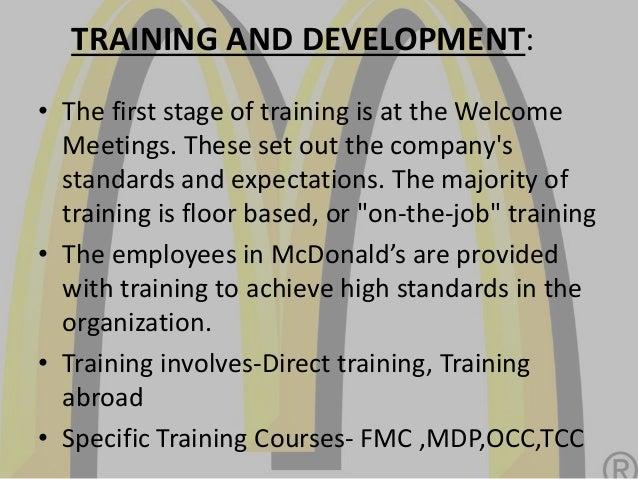 human resource practices at mc donald rh slideshare net McDonald's Register Training mcdonald's staff training manual