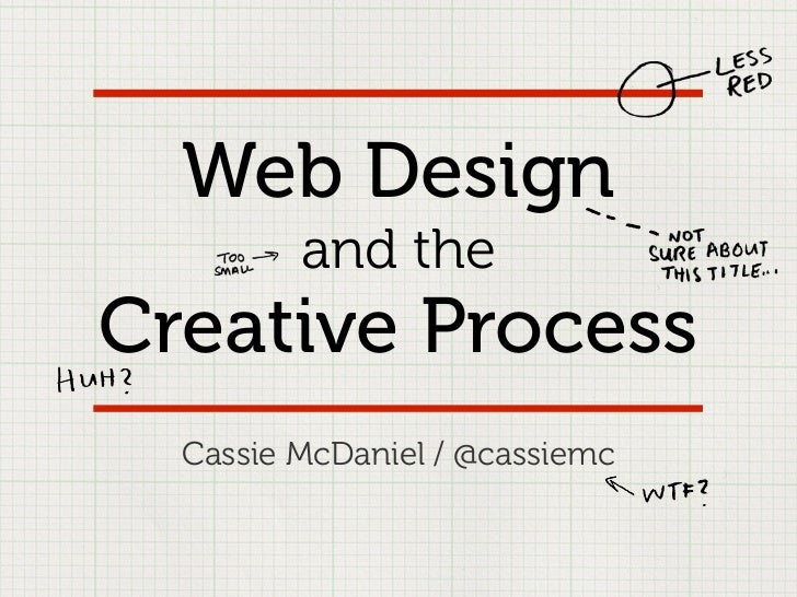 Web Design         and theCreative Process  Cassie McDaniel / @cassiemc