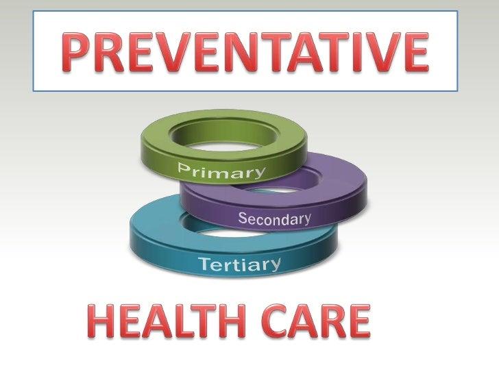 PREVENTATIVE<br />Primary <br />Secondary<br />Tertiary<br />HEALTH CARE<br />