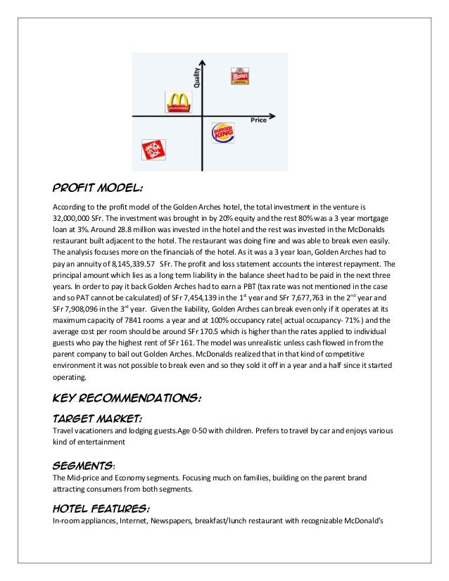 break even analysis for mcdonalds A breakeven analysis for statewide its project identification and assessment  the break-even analysis provided considerable insight about the magnitude of the potential benefits of different its programs it can help identify critical performance variables in the assessment of its benefits  mcdonald, 1998 lee et al, 1997, 1999.