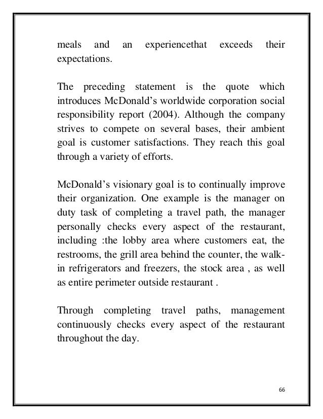 corporate social responsibility mcdonalds and kfc Pestel/pest analysis of kfc  (corporate social responsibility of kfc management essay) bibliography abraham, m ( 2004) kfc®, bp®, and.