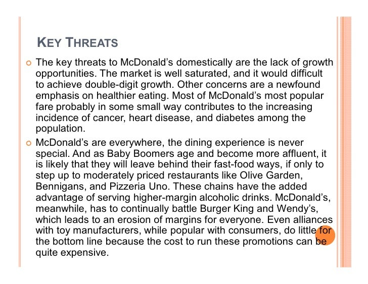 the essay of mcd Essay mcdonald business environment introduction mcdonald corporation is the world's largest chain of hamburger fast food restaurant there are over 30,000 mcdonald's restaurants in more than 100 countries and served an average of 50 million customer daily.
