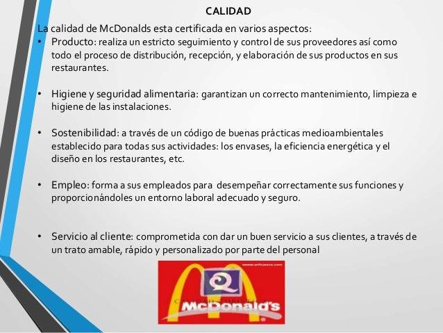 mcdonald equipo 2 final On control de calidad en restaurantes pdf