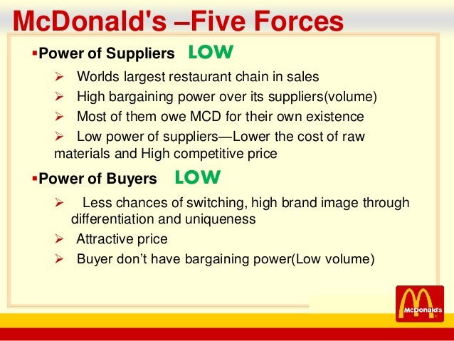 economic analysis of mcdonalds Mcdonald's swot analysis (strengths, weaknesses, opportunities, threats) is examined in this case study on internal and external strategic business factors.