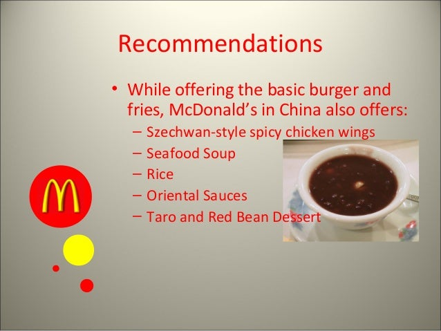 mcdonald corporate level strategy The business strategy of mcdonald's jing han school of economics, yunnan university no2green lake north road the income level of the chinese people.