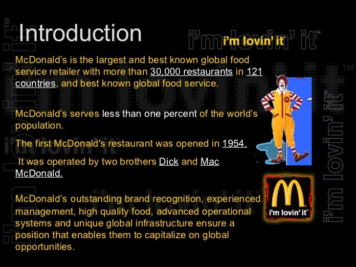 mcdonalds marketing management Mcdonalds' segmentation, targeting and positioning strategy  (mcdonald's director of us marketing) the company seeks specific segments of its .