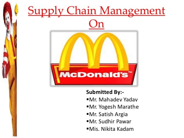 mcdonalds supply chain ppt