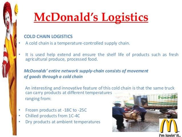 SUPPLY CHAIN MANAGMENT ON McDonald
