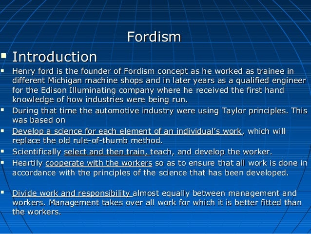 define fordism