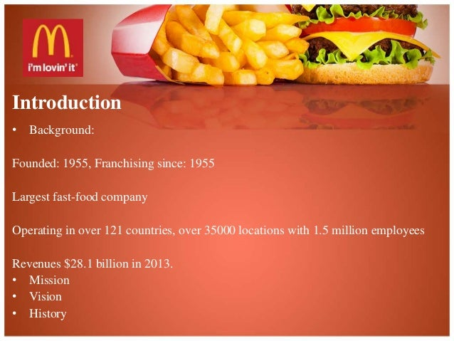 mcdonalds background information