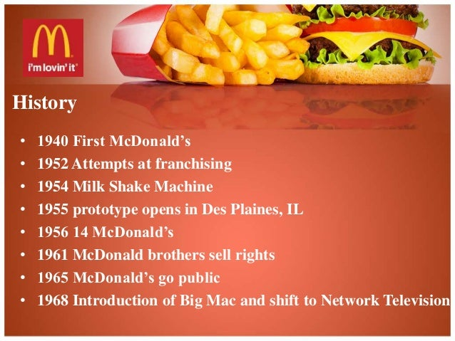 history of mcdonalds essay (mcdonald's fact file, 2004) this essay aims to identify mcdonald's target market and desired position  history and current position of cadbury.