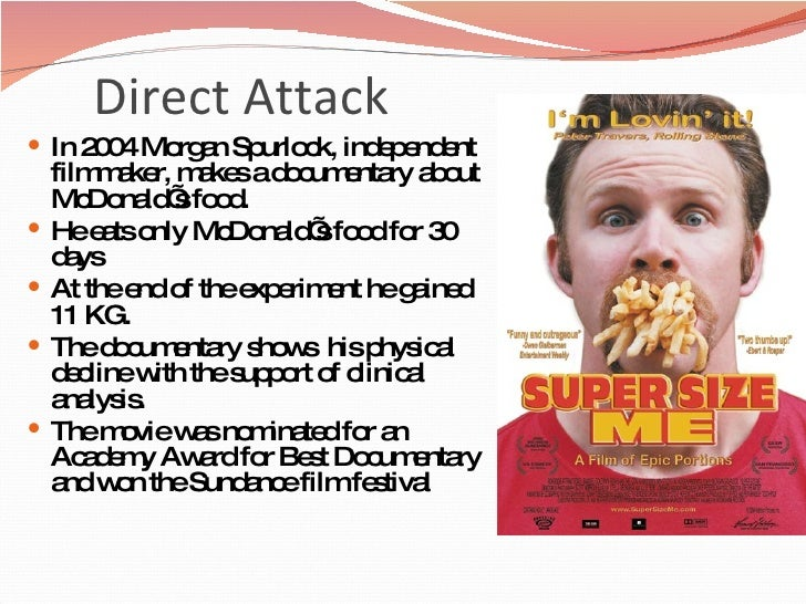 analysis of a documentary super size me by morgan spurlock Morgan spurlock, a filmmaker who is best known for directing and starring in the  hit fast-food documentary super size me, published a.