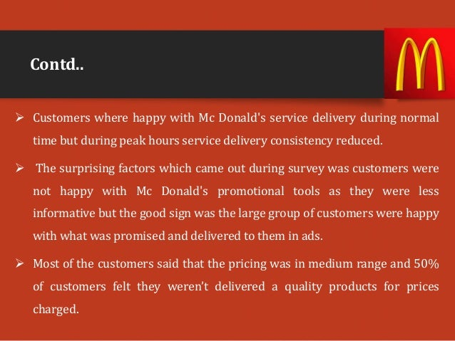 service quality dimensions of mcdonalds