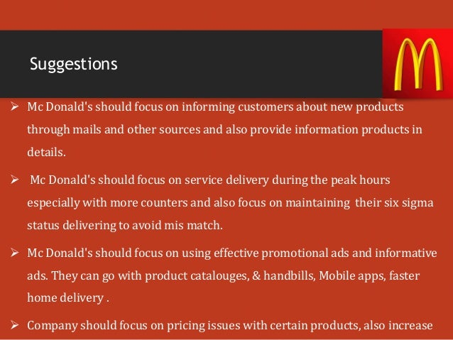mcdonalds customer gap analysis Posts about competitors analysis written by bingyingzhang burger war mcdonald's recognizes the need to respond and it is looking to increase the competitive gap by: what we have to underline here that mcdonald focus on the customer's needs and demands which help them to see theirs.