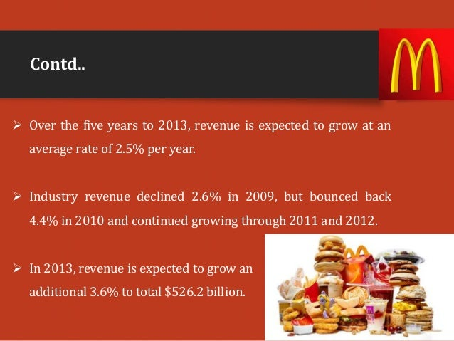 analysis of fast food industry Market research on the fast food industry our reports feature a wealth of standardised and cross-comparable statistics including total market sizes, market share and brand share data, distribution and industry trends.