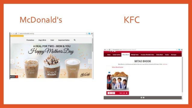 uality management mcdonald vs kfc Reply author: marylou replied on: 02/27/2004 2:55:32 pm message: hmm it's hard to reply to this post without breaking ica's your assumption is incorrect the report is one of the most simple for a sit down visit that i have done.