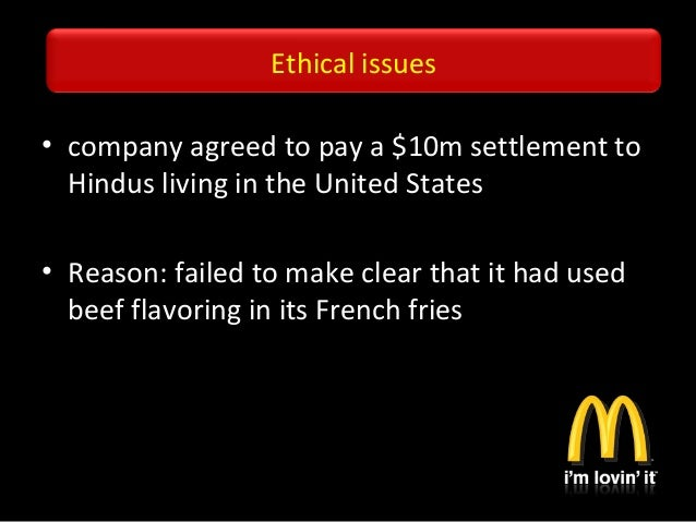 mc donalds ethical responsibility essay Chapter 4 managerial ethics and corporate social responsibility the situation at timberland illustrates how difficult ethical issues can be and symbol-izes the growing importance of discussing ethics and social responsibility.