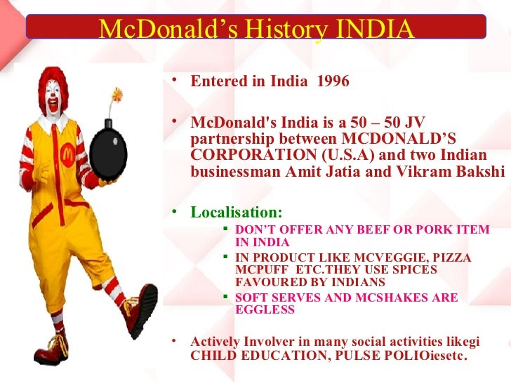 review of literature on mcdonalds vs kfc in india To study the regional spread of kfc and mcdonald's outlets in  previous  studies have tended to focus on socioeconomic factors, somewhat.