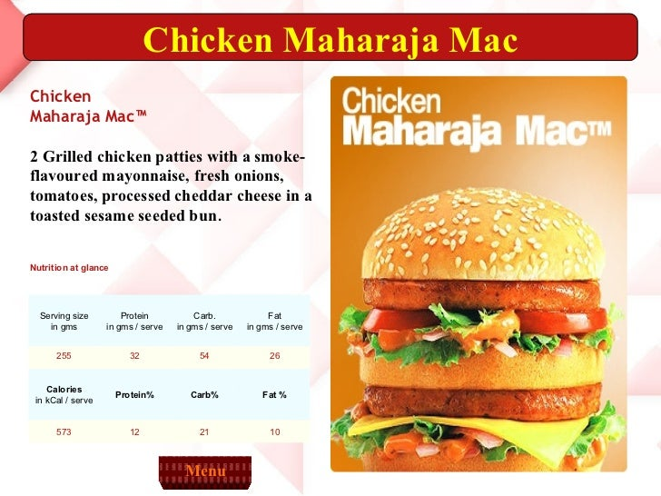 chicken maharaja mac price in india