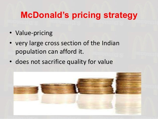 The Pricing Strategy for Fast-Food Restaurants