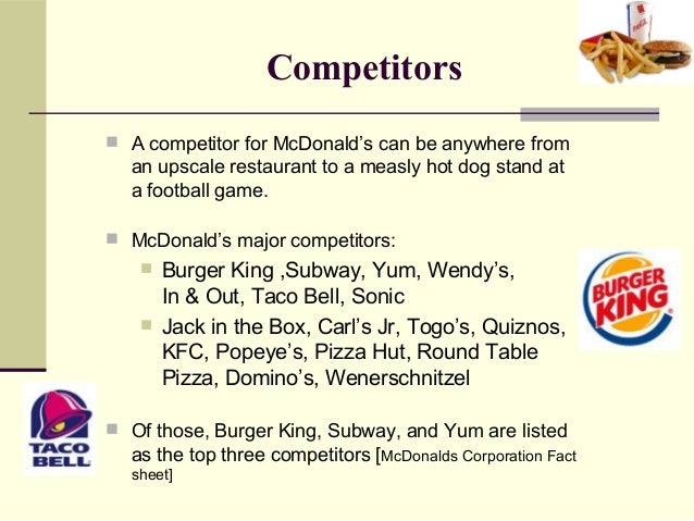top competitors of mcdonalds Ronald mcdonald house charities® (rmhc®), creates, finds and supports programs that directly improve the health and well-being of children and their families.