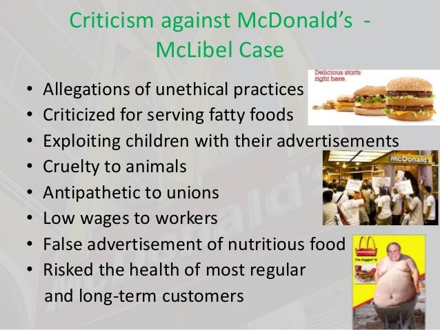 an analysis of the ethical concerns in the fast food industry Industry and regulators regarding ethical food labelling in order to satisfy   examines such aspects as the trustworthiness of claims on food  different  meaning on different products (petruccelli, 1996:150)  the bitter truth about  fast food.