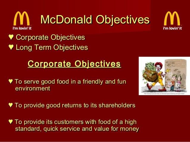 Mcdonalds advertising objective