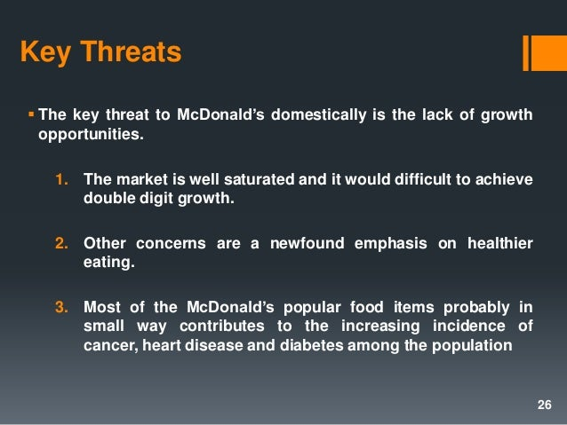 mcdonalds operation strategy This report spotlights the factors that have led to mcdonald's extended run as a premier franchise  of their strategy entails acknowledging the concern or issue.