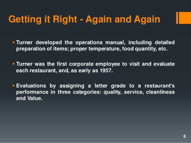 mcdonalds operational strategy Mcdonald's operational strategy is to anticipate customer traffic patterns and food selection based on a detailed analysis of sales history and trends this information is used to prepare various menu items in the right quantities and at the right time in order for the food to be ready for the .