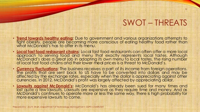 Fast Food and Obesity: A Study in a Local McDonald's