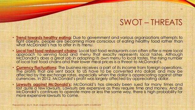 Mcdonalds case study on obesity