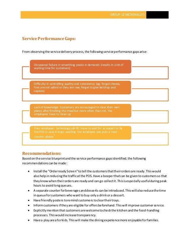service blueprint of mcdonalds