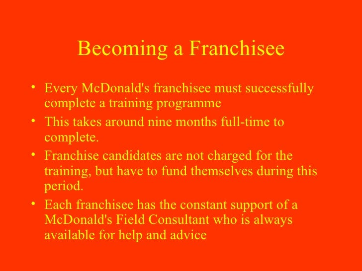 mcdonalds franchising How to open a mcdonald's franchise mcdonald's corp is the largest, and perhaps most recognizable, chain of hamburger fast food restaurants in the world.