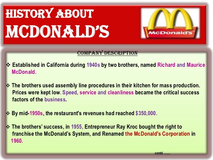 mcdonalds india success factors Mcdonald's has been able to withstand wars, economic downturns and competition by focusing on key success factors customer range a key factor in the success of mcdonald's is its ability to appeal to a wide range of customers.
