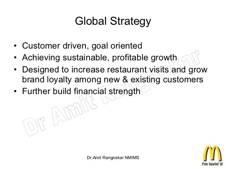 mcdonalds customer driven What does it mean to be customer driven one fortune 500 company that lives to please and satisfy their customers is, mcdonald's according to the.