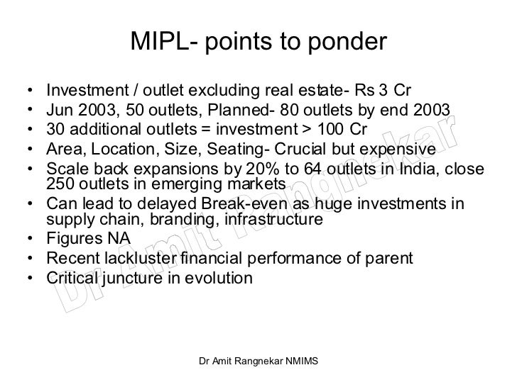 mcdonald india conclusion 21 mcdonalds- india mcdonalds corporation is the largest fast food mcdonalds- india's environmental analysis done in the assignment cw1 and the conclusion.