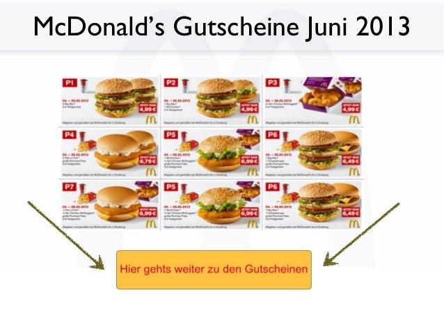 McDonald's Gutscheine Juni 2013